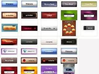 网页设计元素 按钮综集 200多个PSD文件(一)