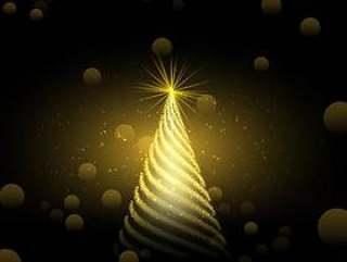 金色圣诞树背景