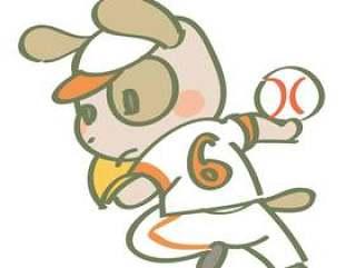 打棒球的狗