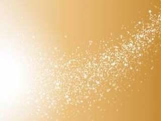 抽象金白色淡光发光圆粒子