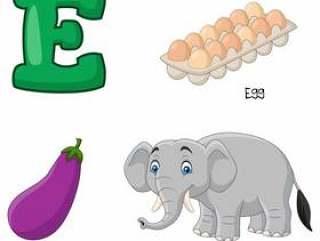 E字母表的例证