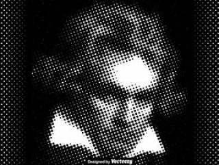 矢量虚线的贝多芬插图
