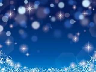 圣诞节闪耀背景蓝色