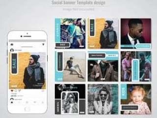 时尚社交媒体发布模板
