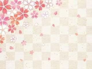 樱花柔和_格子日本纸背景1622