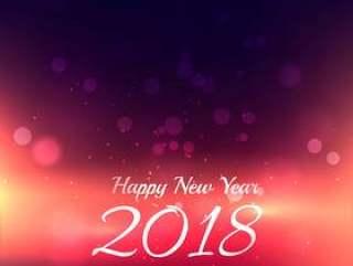 新年快乐2018年背景与发光灯