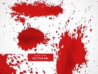 抽象的红色墨水飞溅纹理背景