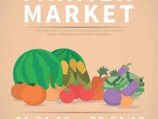 农民市场传单的插图