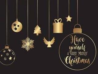 挂着圣诞装饰品