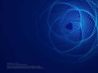 蓝色技术背景与抽象的线条