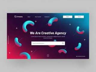 Responsive website banner or landing page design