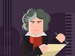 贝多芬的插图