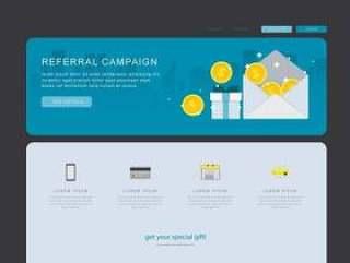 推介营销内容,商业营销传播。网页模板