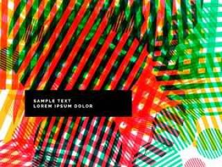 抽象的彩色背景与圈子和条纹
