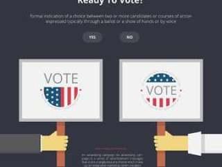 运动标志插图,投票标志插图,两面民主运动