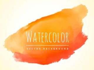 橙色墨水溅污点矢量设计插画