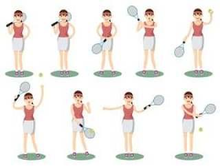 打网球的女性