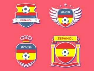 平西班牙足球补丁矢量
