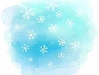 圣诞雪花上水彩纹理