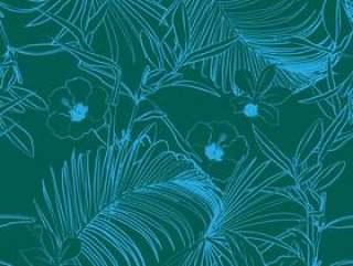 棕榈树和热带森林无缝模式