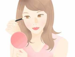 一个女人化妆(眼妆)