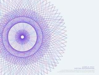 矢量线spirograph矢量背景