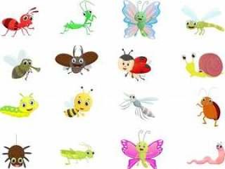 昆虫卡通集合
