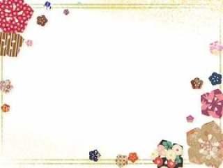 日本风格的图像8日本模式桦木花卉图案