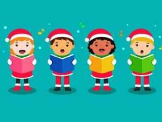 唱圣诞颂歌的孩子