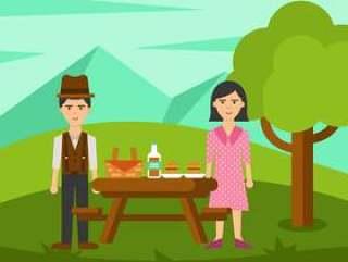 在自然传染媒介的家庭野餐