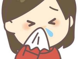 一个女人咬鼻涕流鼻涕