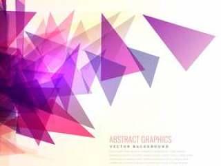 抽象的粉红色和紫色三角形形状的爆裂