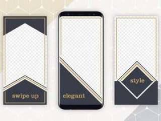 Instagram story elegant luxury template
