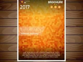 橙色纹理的小册子设计模板