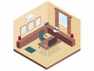 等距的工作区房间矢量