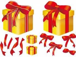 礼物盒礼物丝带丝带礼物