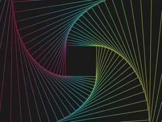 发光的techno线几何样式背景,传染媒介例证