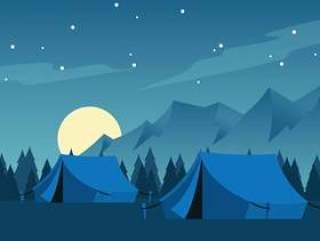夜满月的露营