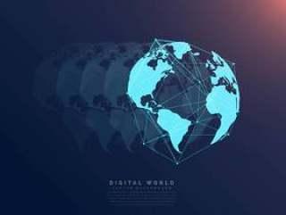 世界网络通信数字技术概念背景