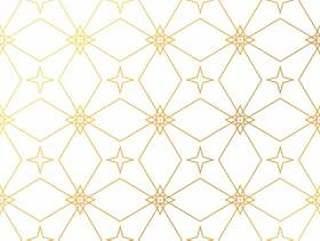 抽象的几何金色图案背景。无缝的金巴