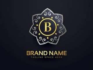 字母B标志设计与花卉元素