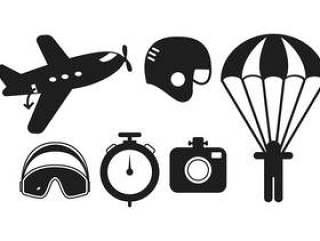 跳伞运动矢量包