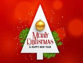 与树和垂悬bal的创造性的圣诞节节日背景
