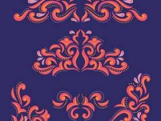 锦缎花卉与蔓藤花纹装饰装饰品