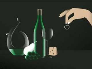 在桌传染媒介例证的典雅的滗酒者酒