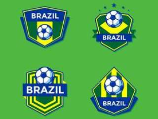 巴西足球补丁矢量