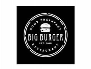 Burger Stamp标志设计灵感