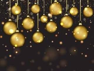 金色圣诞小玩意
