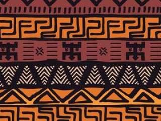 与几何元素的部族种族五颜六色的波希米亚样式,非洲泥布料,部族设计