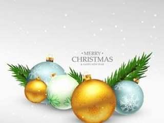 圣诞快乐节日贺卡设计与现实圣诞节